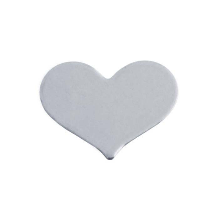 Sterling Silver Heart Stampings