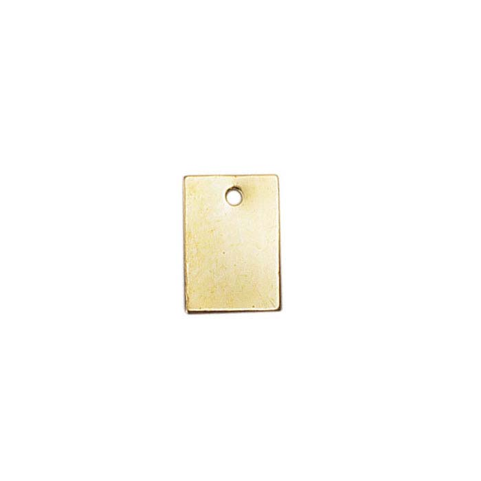14/20 Yellow Gold-Filled 8.7 x 6mm Rectangle Tag, 26-Ga.