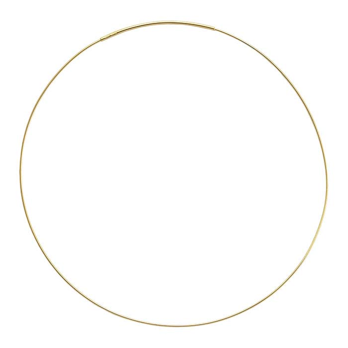 Sterling Silver 14K Yellow Gold-Plated 1mm Cable Neck Wire