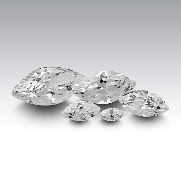 CZ Marquise Faceted Stones