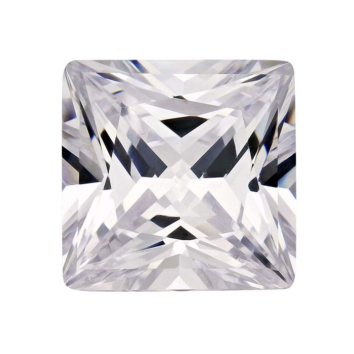 CZ Square Faceted Stones