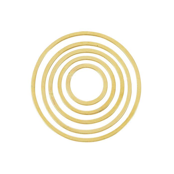 14/20 Yellow Gold-Filled Flat Concentric Round Component Set