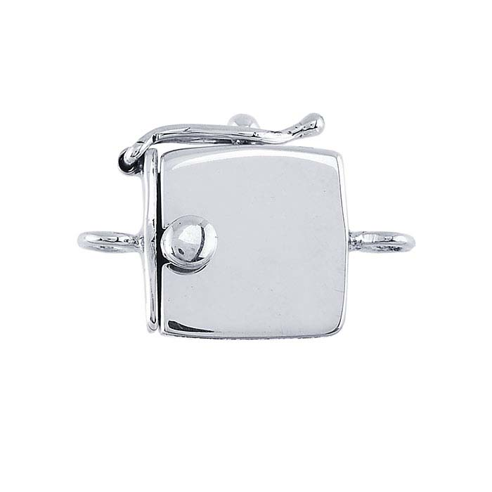 Sterling Silver Square Box Safety Clasps