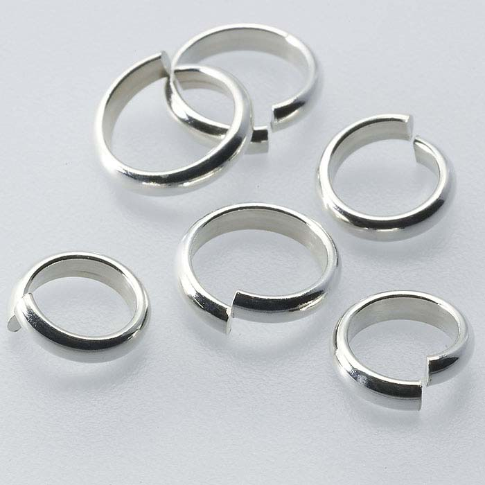 Wholesale Round Closed Jump Ring Sterling Silver Package Size Gauge Pick Size