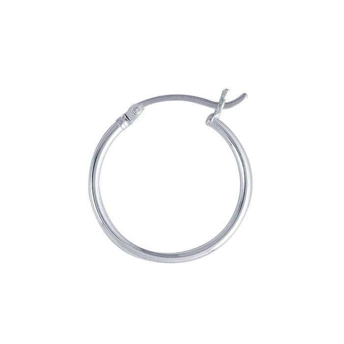 Sterling Silver 1.5mm Tubing Hoop Earrings
