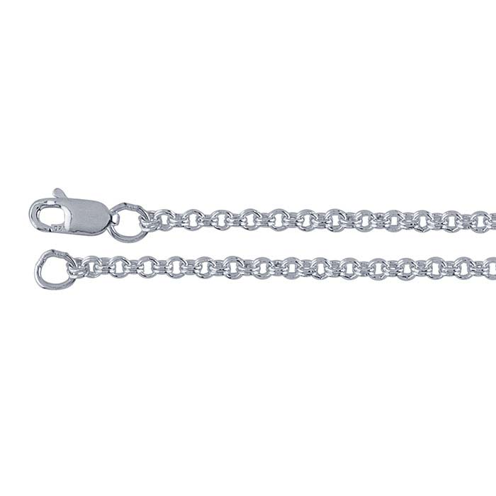 Sterling Silver 1.6mm Round Double-Cable Chains