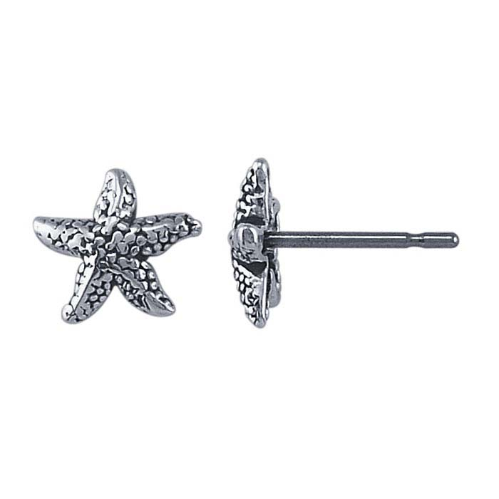 Sterling Silver Starfish Post Earring
