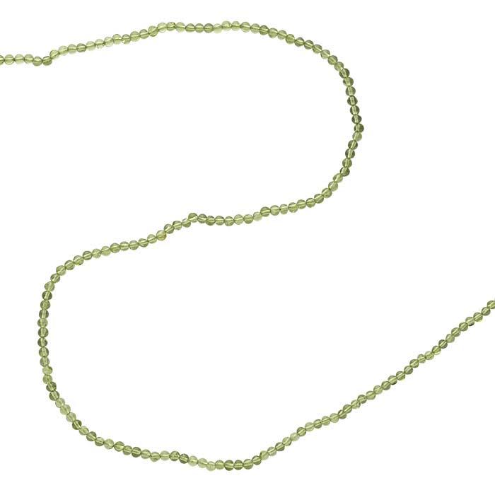 Premium Peridot Round Bead Strands