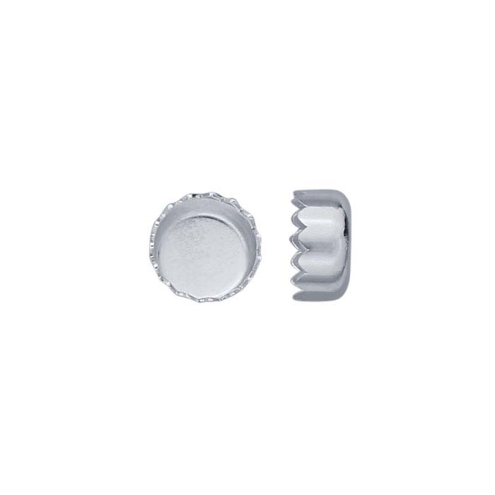 .999 Fine Silver Round Serrated Bezel Cup Settings