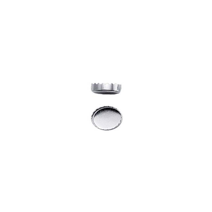 .999 Fine Silver Oval Serrated Bezel Cup Settings