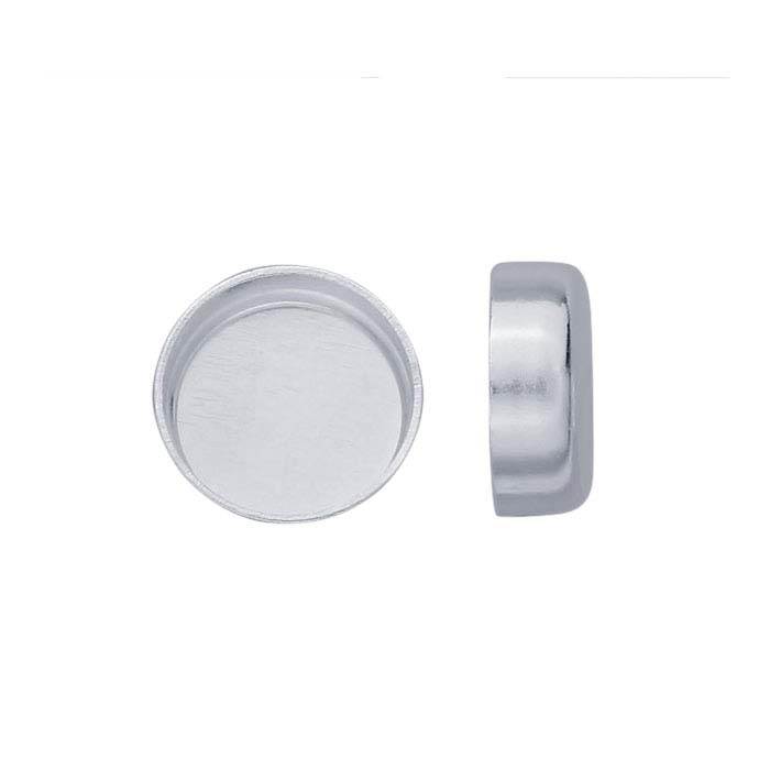 .999 Fine Silver 6mm Round Bezel Cup Setting