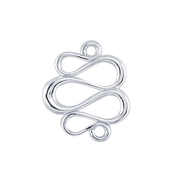 Sterling Silver Swirl Link Component