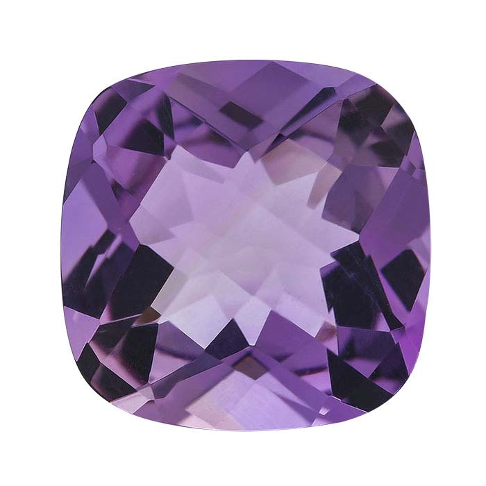 Amethyst Cushion Checkerboard Faceted Stones, AA-Grade