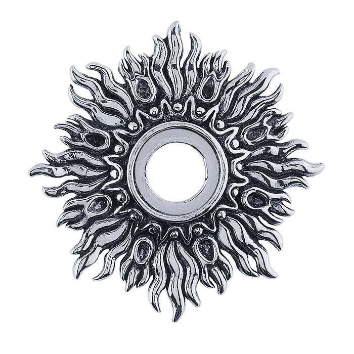 Sterling Silver 12mm Sunburst Pendant Mounting