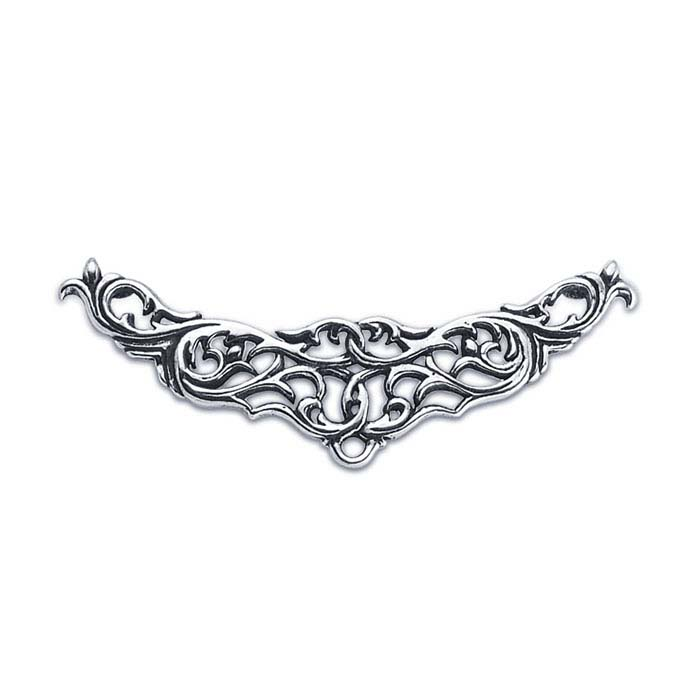 Sterling Silver Filigree Festoon Pendant