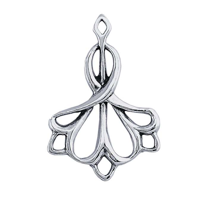 Sterling Silver Filigree Art Deco Component