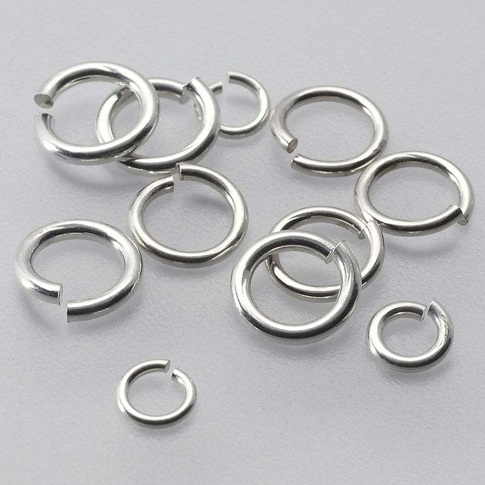 Sterling Silver Soldered Jump or Split Rings Choose Size 5-7mm and Quantity