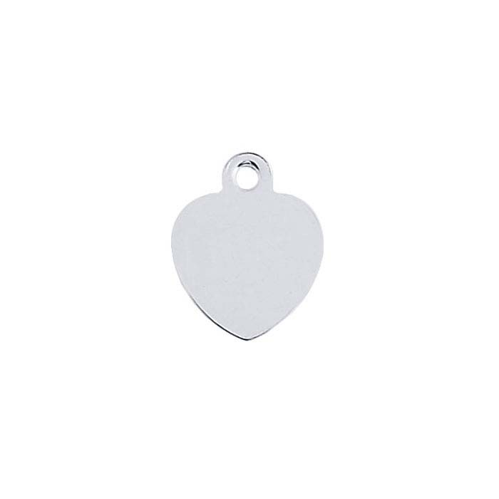 Sterling Silver Heart Quality Tags with Ring