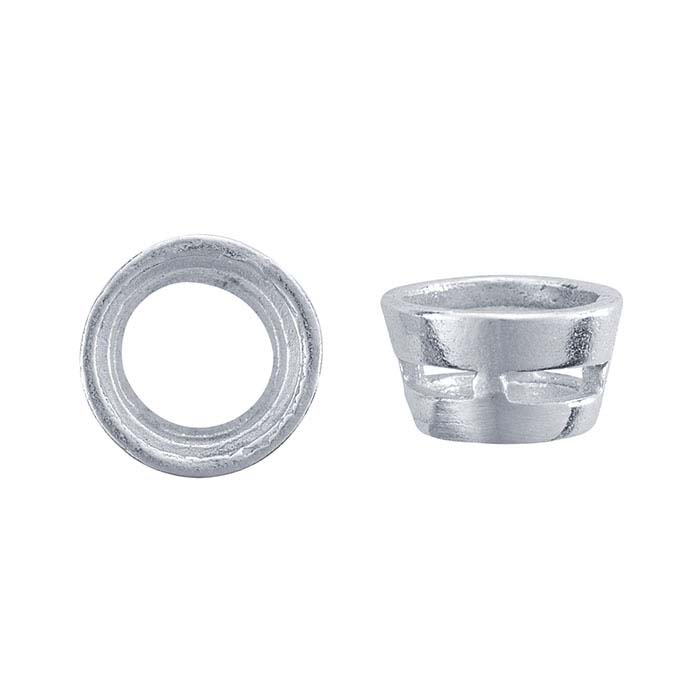 Sterling Silver 5mm Round Tapered Tube Bezel Setting
