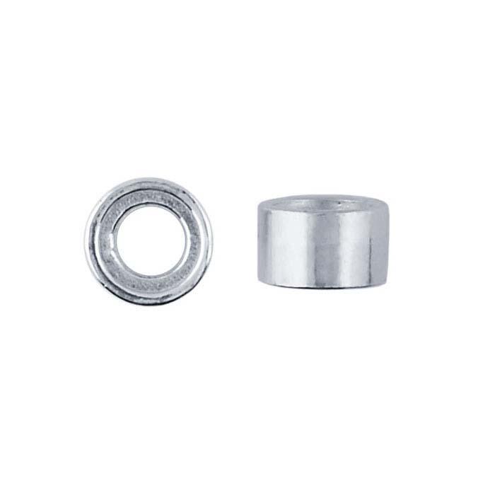 Sterling Silver Round Tube Bezel Setting 4mm