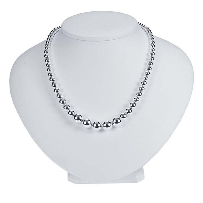 Sterling Silver 4–10mm Graduated Bead Chain