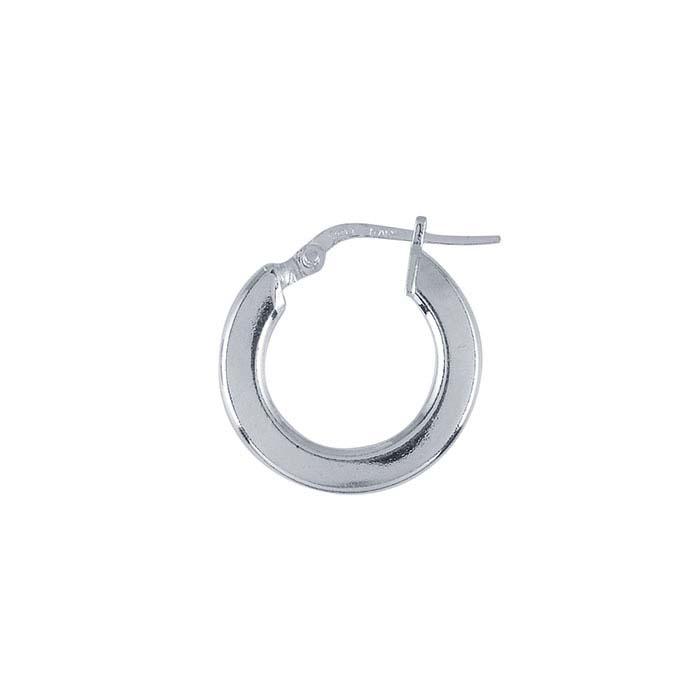 Sterling Silver 3mm Square Tubing Hoop Earrings