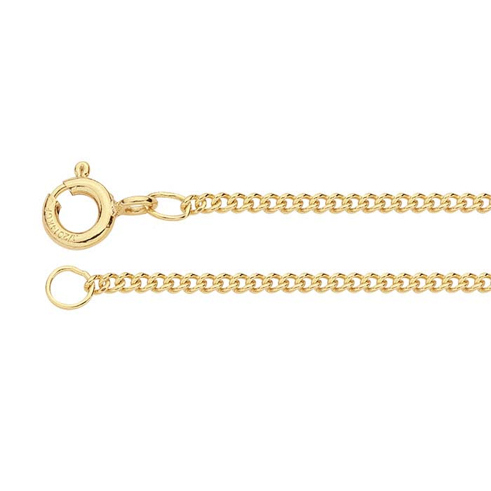 14/20 Yellow Gold-Filled Curb Chains