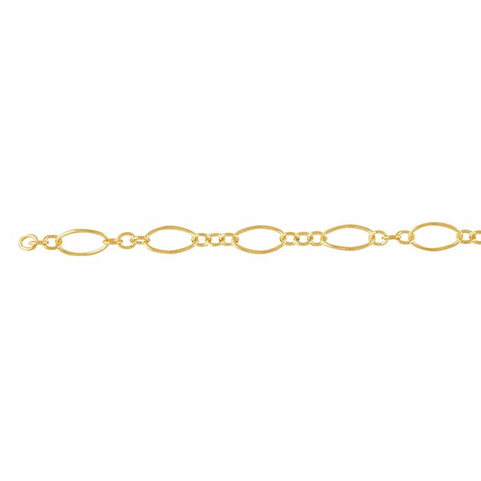 14/20 Yellow Gold-Filled 2.8mm Oval Long & Short Chain, By the Foot