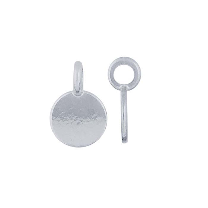 Sterling Silver Round Charm