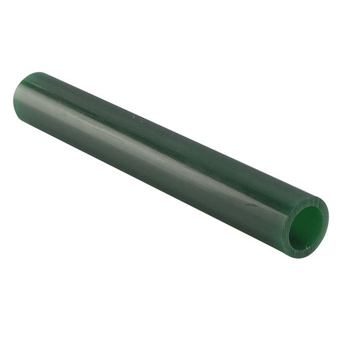 Matt™ Green Wax Ring Tubes, Round, Center Holes