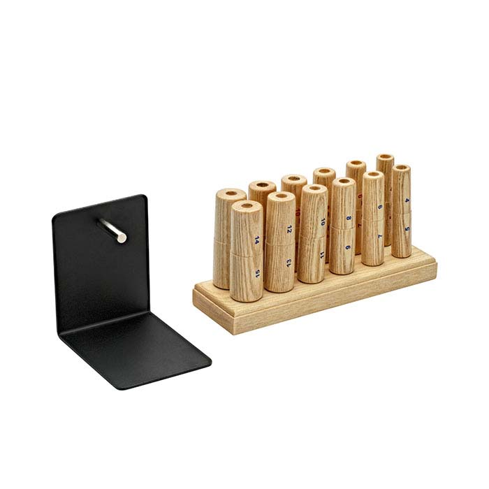 Ring-Making Mandrels and Stand, Complete Set