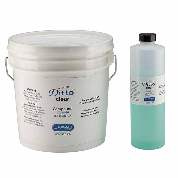 Ditto Clear RTV Mold Rubber Kit, 8.8 lbs.