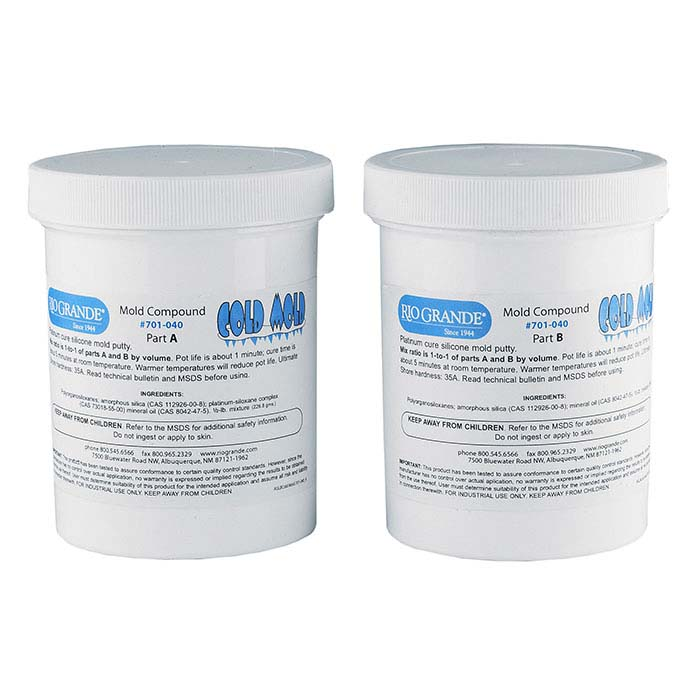 Rio Cold Mold Two-Part Silicone Compound, 1 lb.