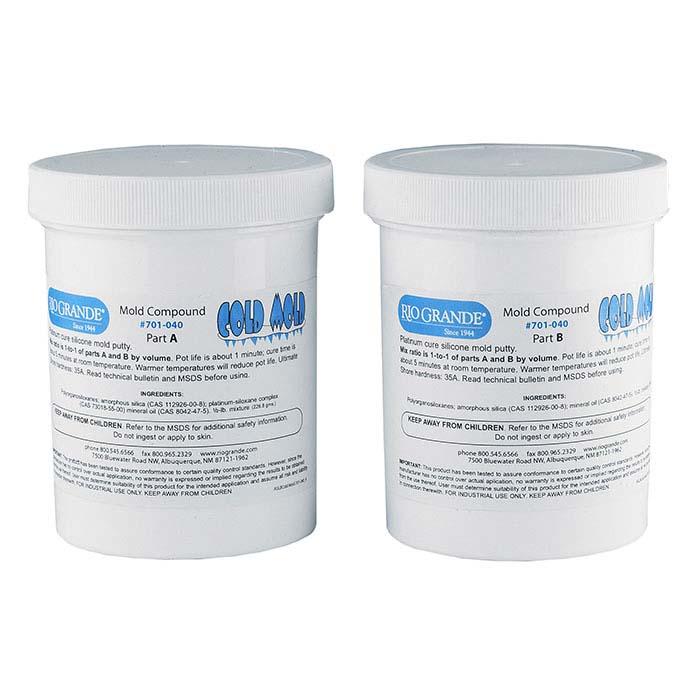 Rio Cold Mold Two-Part Silicone Compound, 1 lb