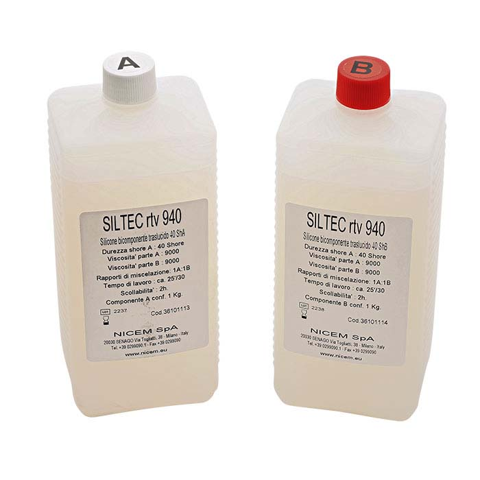 Nicem® Clear RTV Two-Part Molding Rubber Kit, 4.4 lbs.