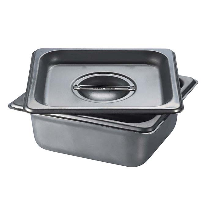"Stainless Steel Square Firing Pan with Lid, 2-1/2""D"