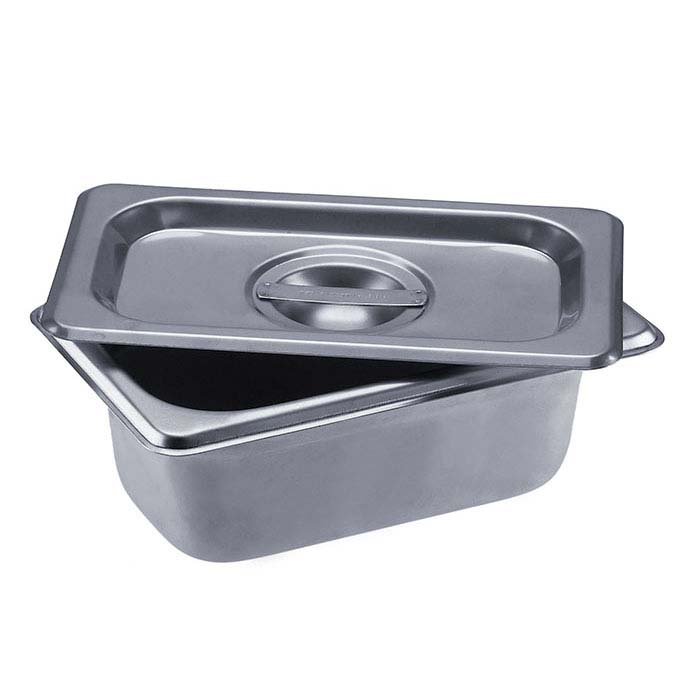 "Stainless Steel Rectangle Firing Pan, 2-1/2""D"