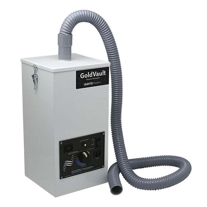 Quatro Gold Vault Extra-Compact Fume & Dust Collector, 150cfm