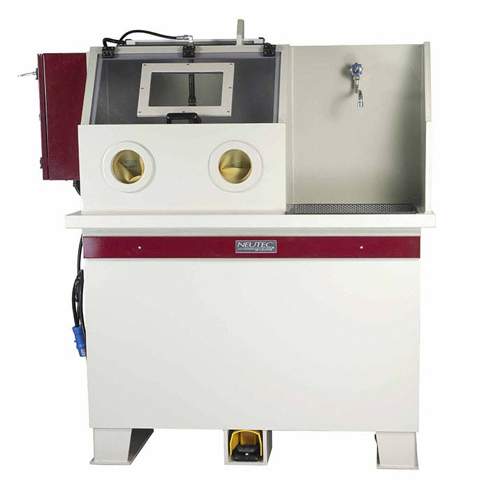 Neutec Quenching Station and Wet Blast Devesting Cabinet