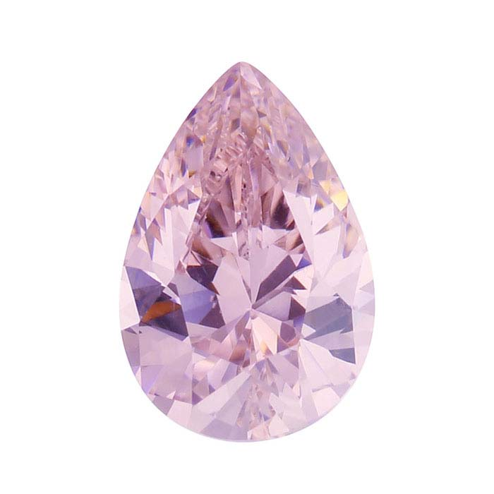 Pink CZ Pear Faceted Stones