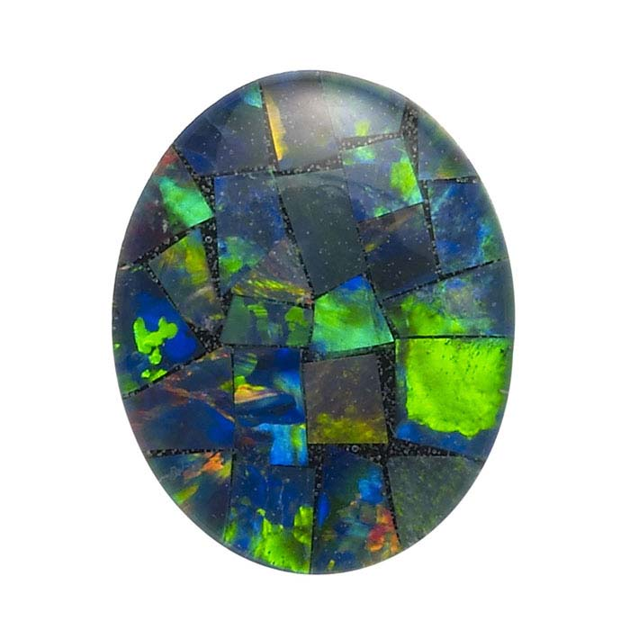 Opal Mosaic Oval Triplet Cabochons