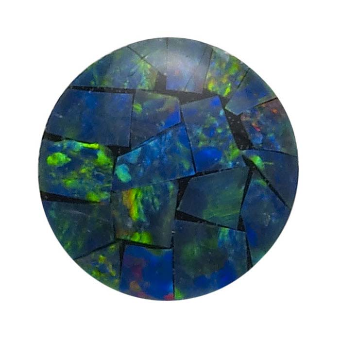 Opal Mosaic Round Triplet Cabochons
