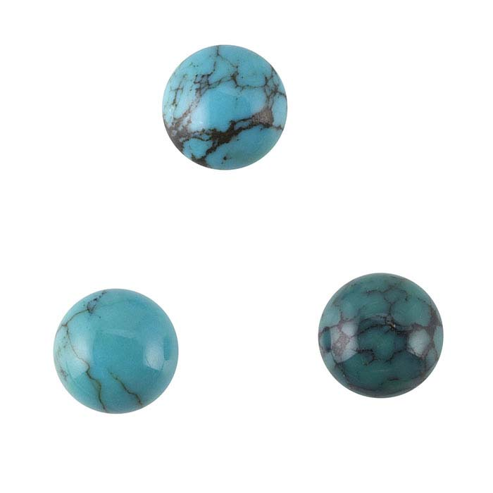 Chinese Turquoise 6mm Round Cabochon