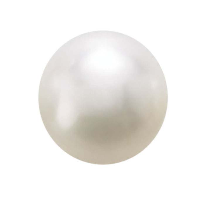Freshwater Cultured Half-Drilled 8–8.4mm Round Pearl, White, A-Grade