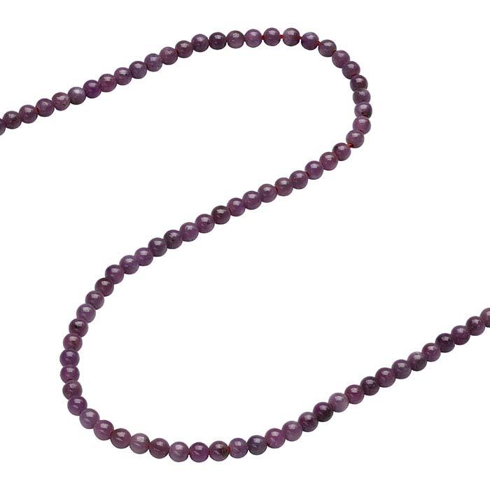 Ruby Round Beads