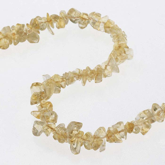 Citrine Pebble Bead Continuous Strand