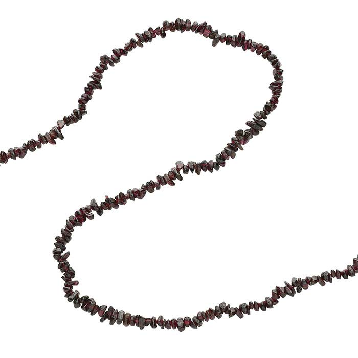 Garnet Pebble Bead Continuous Strand