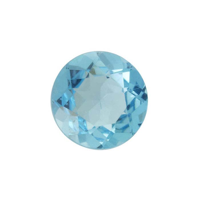 Blue Apatite Round Faceted Stones, AA-Grade