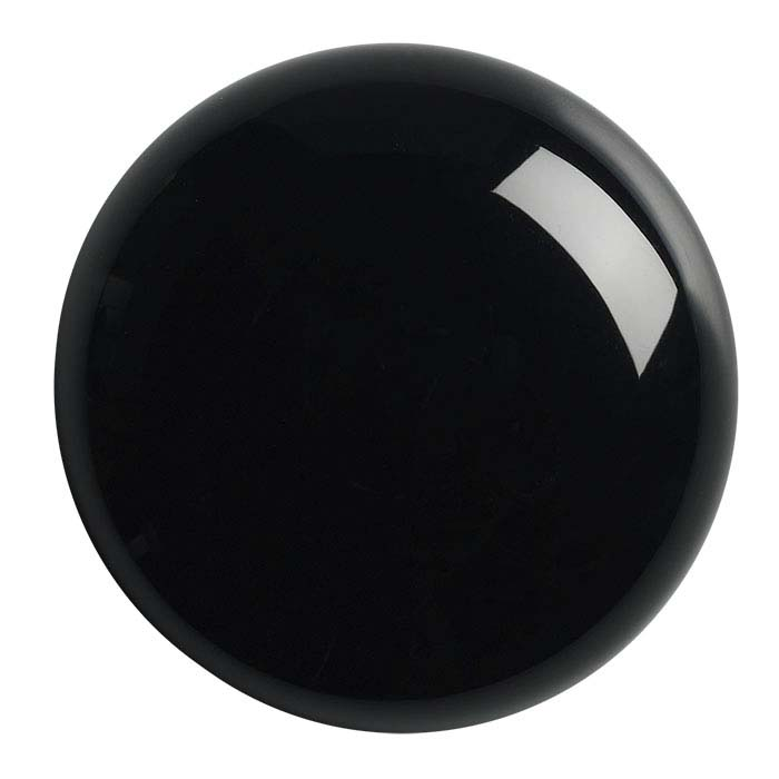 Black Onyx Round High-Dome Cabochons