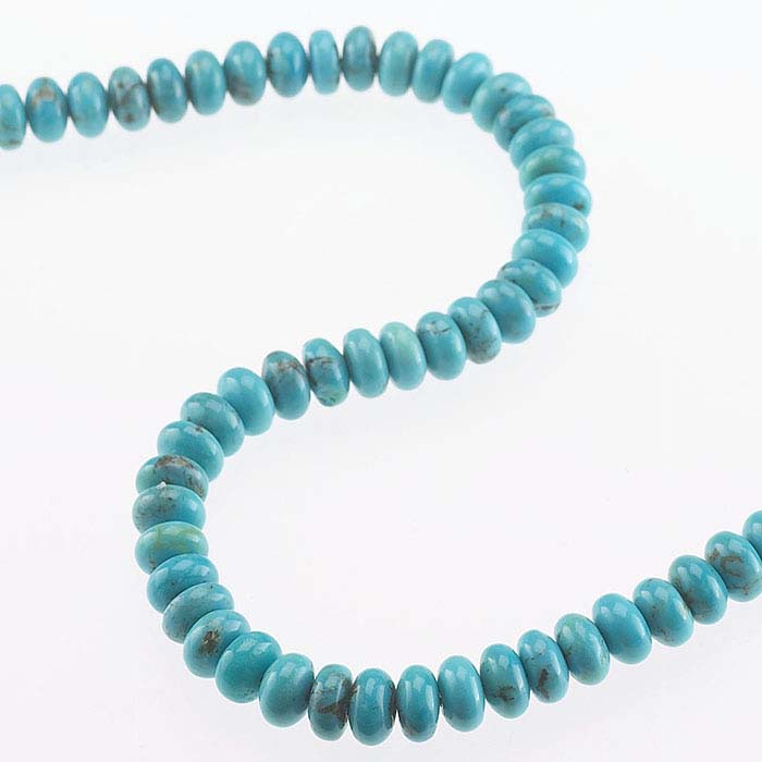 Chinese Turquoise 8 x 4mm Roundel Bead Strand